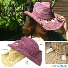 Crochet Cowboy Hat Pattern                                                                                                                                                     More