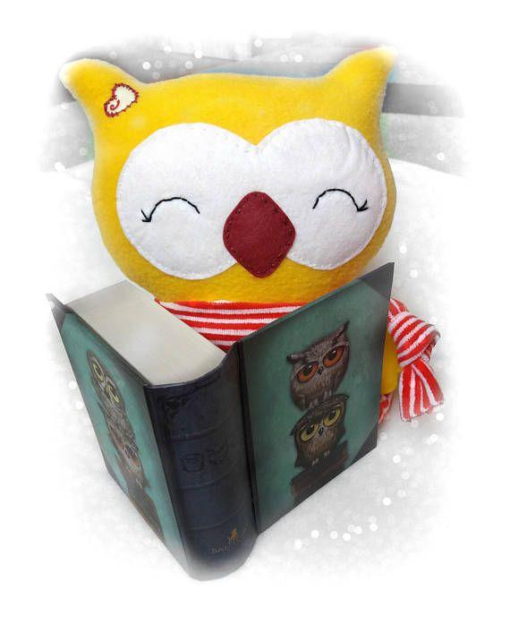 Stuffed owl Plush toy Owl pillowCute plush animal Toddler