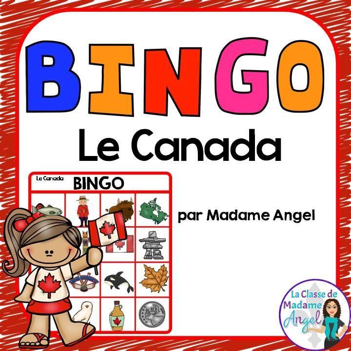 Canada:  Jeu de Bingo -  Canada themed Bingo game in French!