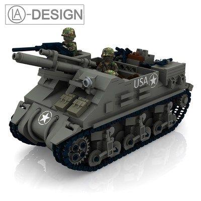 Custom Instruction M7 Priest Artillery Tank Wwii WW2 PDF Made OF Lego® Brick   eBay