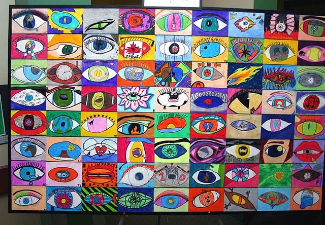 Surrealism eyes group workSurrealism Eye, Eye Projects, Art Lessons, Teaching Eyes In Art, Eye Shapes, Art Class, Art Ideas, Rene Magritte, Cool Ideas