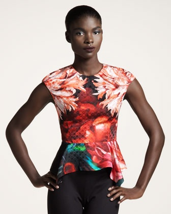 Floral-Print Peplum Top by Peter Pilotto at Bergdorf Goodman.Peplum Tops, Pilotto Floralprint, Peter O'Tool, Silk Tops, Pilotto Floral Prints, Floralprint Peplum, Floral Prints Peplum, Peter Pilotto