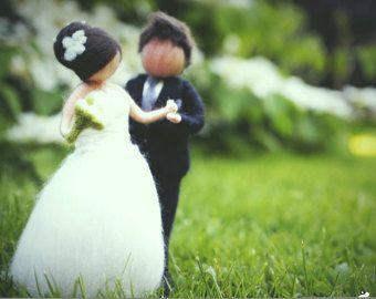 Wedding  love wedding couple ornament by PETRUSKAfairyworld