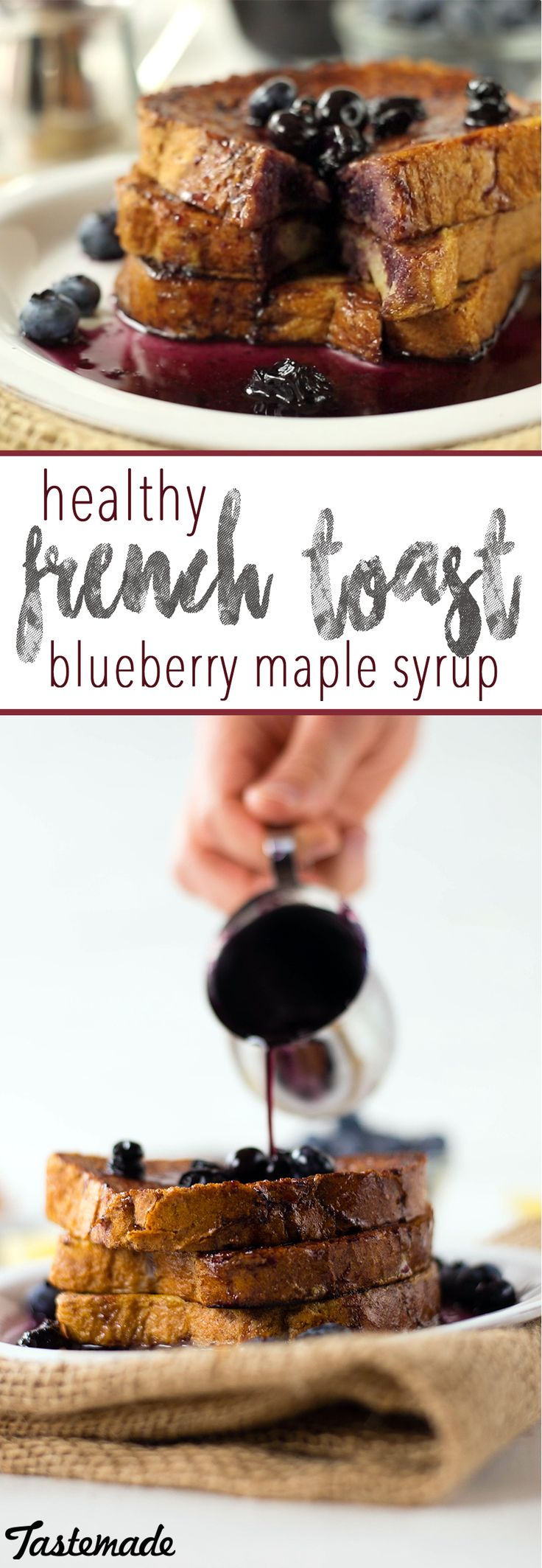 Enjoy French toast with a few easy, healthy substitutions! Save the recipe on our app! http://link.tastemade.com/HE7m/H1wHe4m2mA