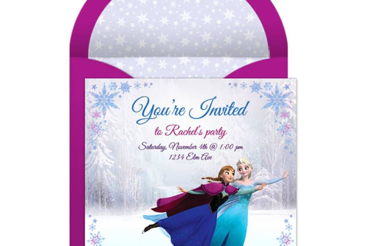 Frozen Online Party Invitation