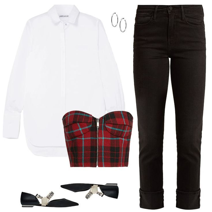 - The unexpected is alive and well in the world of fashion, which is only made better by the bustier. Layer a '90s-inspired plaid corset over a more elegant oversized button-down shirt and slim cropped jeans. Keep the juxtaposition of trends going strong with ultra-feminine ballet flats. #femininefashion,