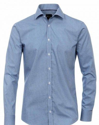 Venti slim fit overhemd blauw Dit overhemd van het merk Venti is goed casual op een jeans te dragen omdat het een slim fit model is. Het  overhemd heeft een kent kraag en een modisch design. Deze kent kraag heeft geen knoopjes aan de onderkant en kunnen met een stropdas gedragen worden.   De eigenschappen van deze extra klasse overhemden zijn: Deze overhemden zijn van een hoogwaardige strijkvrije katoen.  Merk: Venti Materiaal: 100% Katoen Kleur: Blauw Prijs  55.95  ex verzendkosten