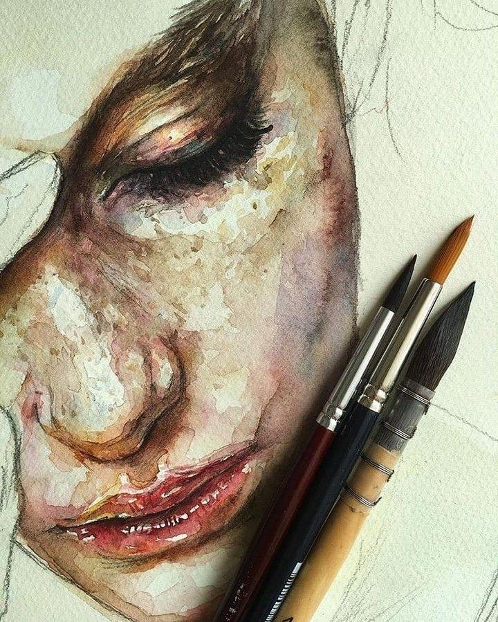 Promotion-Funktion dm und klicken Sie auf meinen Bio-Link Instagram @modernartt. . Artist Lane Hartwell.draws #watercolor #illustration #sketch # Skizzenbuch…