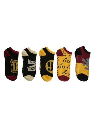 Harry Potter Classic No-Show Socks 5 Pair