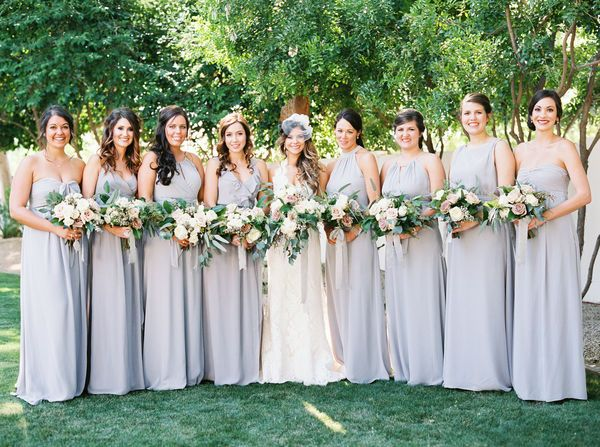 Pear Shaped Figure: For pear shaped girls, try a style with a well defined waist and a flowy skirt to create a more elongated silhouette,like the Dorian bridesmaid gown.