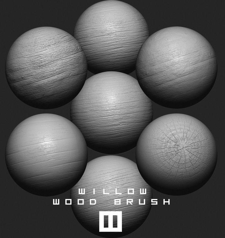 ArtStation - Willow Wood Brush, William Ordonneau