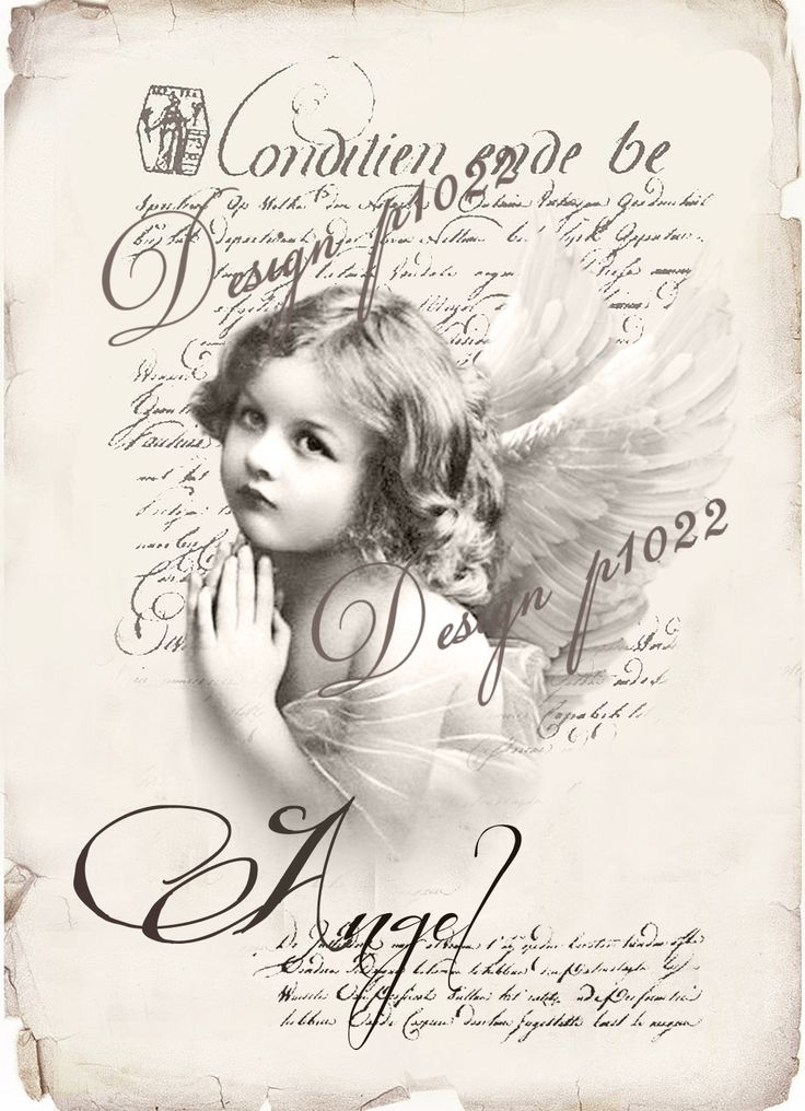 Vintage angel new version digital collage p1022