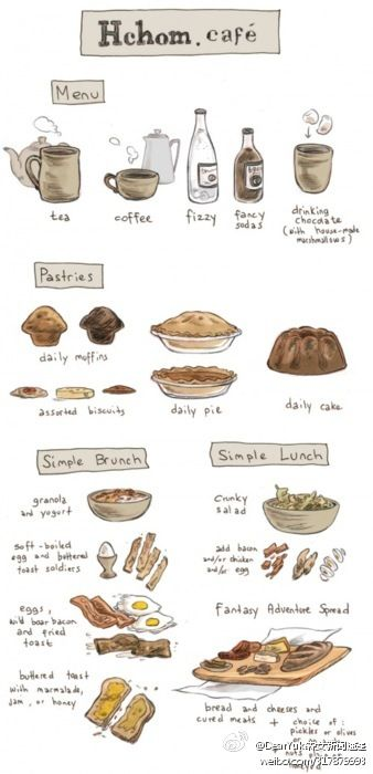 欢迎光临,午饭时间又到了,想点点甚么呢?,Food illustration - artist study , How to Draw Food, Artist Study Resources for Art Students, CAPI ::: Create Art Portfolio Ideas at milliande.com , Inspiration for Art School Portfolio Work, Food, Drawing Food, Sketching, Painting, Art Journal, Journaling, illustration