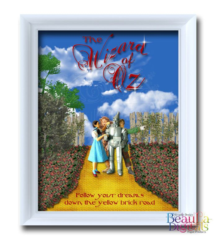 Wizard of OZ Print Poster - Follow the Yellow Brick Road -Glossy 300dpi 10x8inch