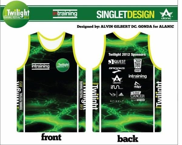 Singlet Design for Twilight Running Festival 2012 by: Alvin Gilbert Dc. Gonda for Alanic