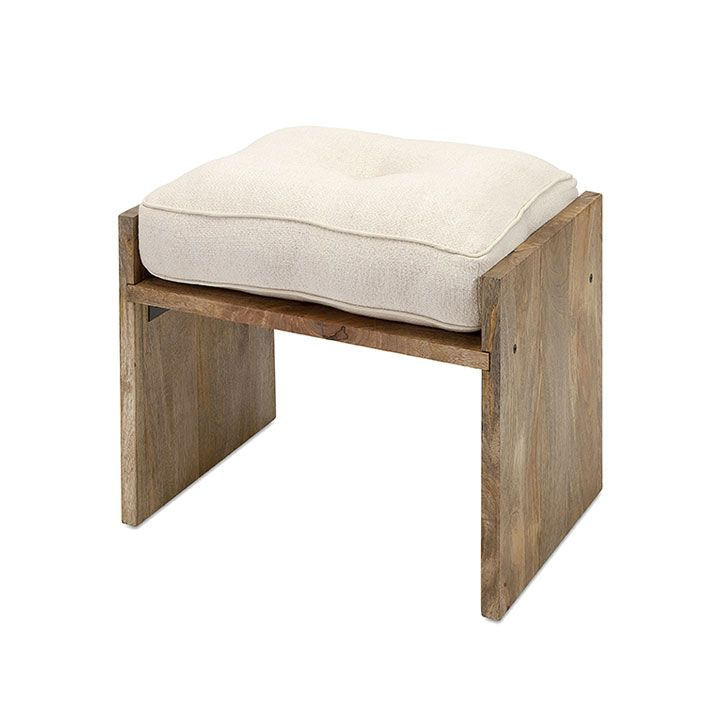 These would be so easy to make by hand! Nice porch seating, too. Perfect Perch Ottoman | dotandbo.com
