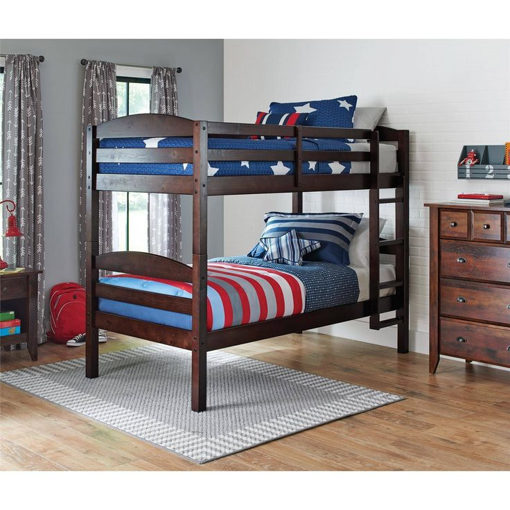 Buy Better Homes and Gardens Leighton Twin Over Twin Wood Bunk Bed Multiple Finishes only $179  Today You can buy Better Homes and Gardens Leighton Twin Over Twin Wood Bunk Bed Multiple Finishes only $179 at Walmart store. This product is being trending now with discounted price. The Mainstays Twin Over Twin Wood Bunk Bed is a practical space saving solution for small bedrooms. Available in multiple finishes this solid wood bunk bed creates a warm and restful environment in your home. This…