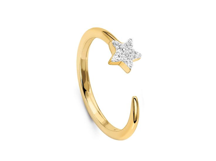 18ct Gold Vermeil Pave Star Cosmic Ring // Missoma