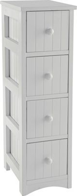Buy Tongue and Groove 4 Drawer Storage Unit - White at Argos.co.uk, visit Argos.co.uk to shop online for Bathroom shelves and units