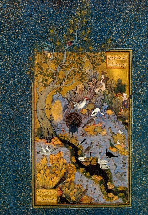 The Language of Birds by Farid al-Din Attar. page Habibullah. (Mantiq al-Tayr manuscript), ca. 1600
