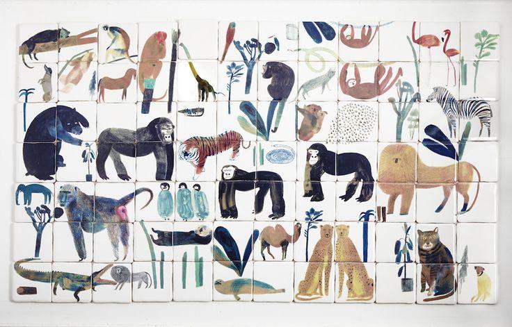 Laura_Carlin_Animal_Mural_Ceramic_Tiles_£1965