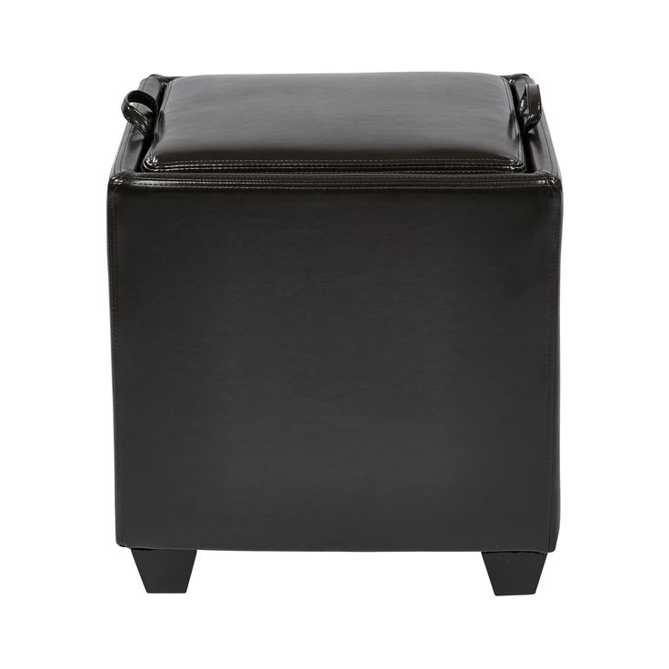 Metro Eco Leather Storage Ottoman with Tray by Office Star Products - 25+ Best Ideas About Leather Ottoman With Storage On Pinterest