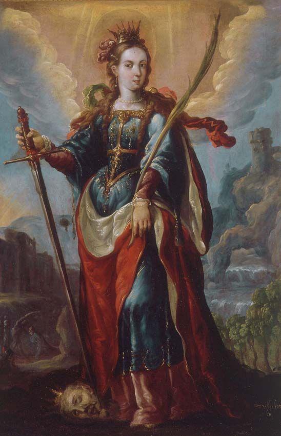 Santa Catalina de Alejandría (Saint Catherine of Alexandria), c. 1690 by Cristóbal de Villalpando (Mexican, c. 1645–1714)
