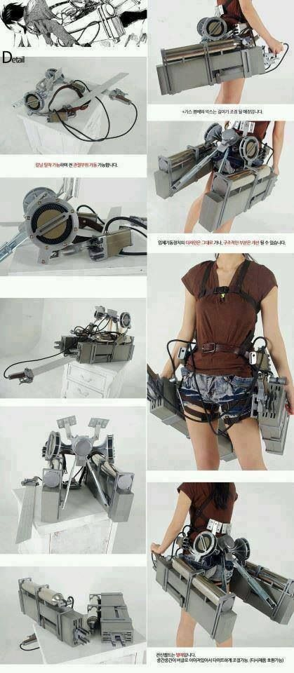 """Shingeki no Kyojin - 3D Maneuver Gear. This is from """"Attack on Titan"""". - COSPLAY IS BAEEE!!! Tap the pin now to grab yourself some BAE Cosplay leggings and shirts! From super hero fitness leggings, super hero fitness shirts, and so much more that wil make you say YASSS!!!"""