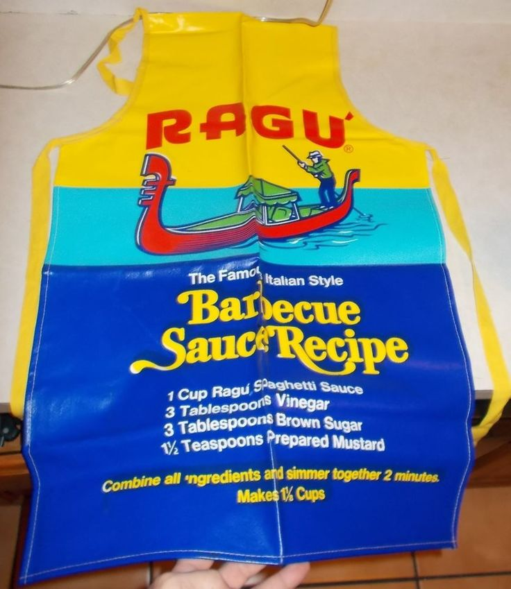 Vintage 1970's/80's RAGU Spaghetti Sauce Cooking APRON Unused Condition.