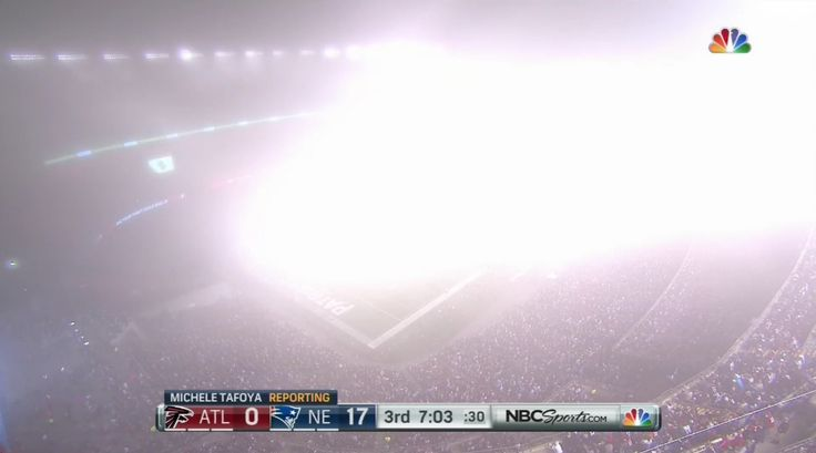 Fog covers Gillette Stadium, blocking out Falcons-Patriots game