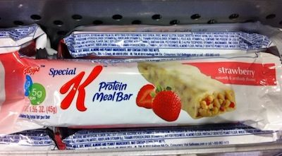 There is so much crap in this bar that we don't know where to begin:    Partially hydrogenated oils (ie trans fat)   4 tsp of sugar, almost all of it added   barely any real strawberry   the fiber is added in the form of inulin, not through whole grains   BHT  (potential carcinogen) and TBHQ (causes nausea and delirium) are used as preservatives   artificial and natural flavorings   a laundry list of added vitamins and minerals, because this fake food has no nutrients on its own.