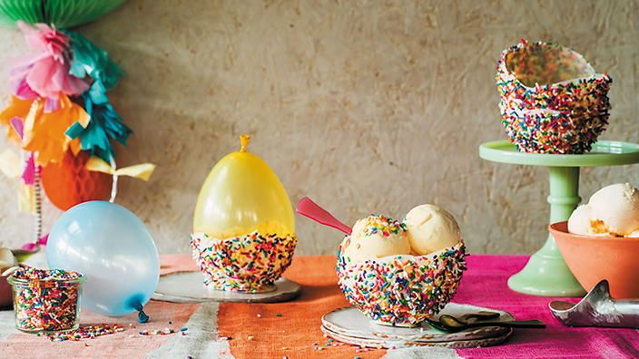 Chocolate sprinkle ice-cream bowls recipe : SBS Food