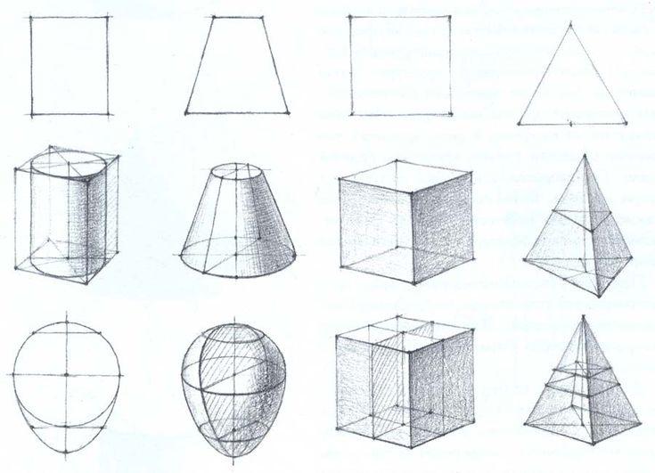 конус с сечением рисование - Поиск в Google