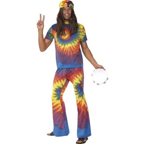 Tie Dye hippie pak voor heren. Carnavalskleding 2016 #carnaval