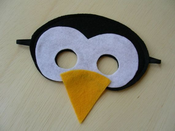 Felt penguin mask - I would pair this with a black dress and matching felt penguin feet boot covers