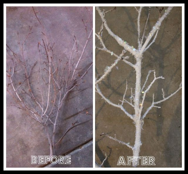 DIY FROSTED BRANCHES FOR 1.00