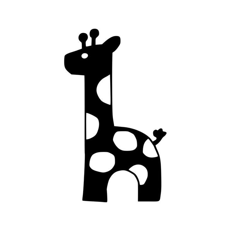 Cute Giraffe Wall Decal Babies Nursery Decal Mac Book