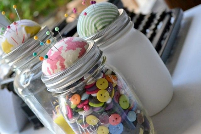 Pin Cushion & Button Storage in One!