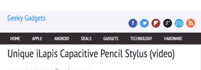 That's What Geeky Gadgets writes about iLAPIS : Capacitive Pencil Stylus for iPad & Android tablet by giulio de vita — Kickstarter