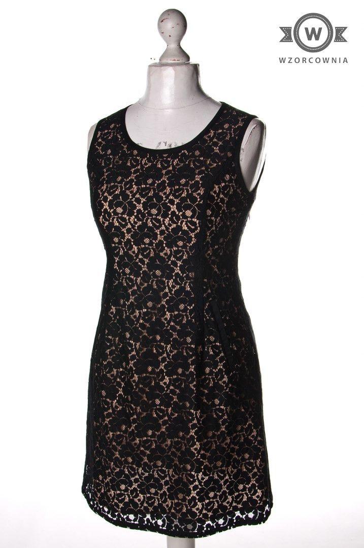 >> Beżowa #sukienka z warstwą #koronki #Wzorcownia online | #dunnes #woman #dress