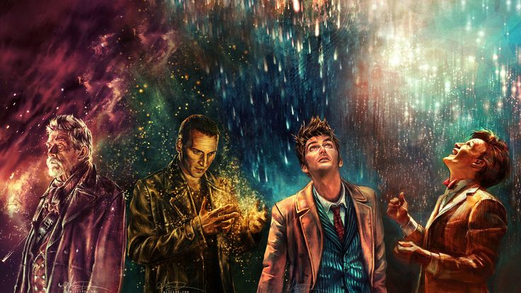 """This is my favorite Doctor Who wallpaper so far. It's composed of 4 separate images. Not sure who compiled them but the original artist is alicexz from deviantART. <a rel=""""noreferrer nofollow"""" target=""""_blank"""" href=""""http://alicexz.deviantart.com/gallery"""">http://alicexz.deviantart.com/gallery</a>/"""