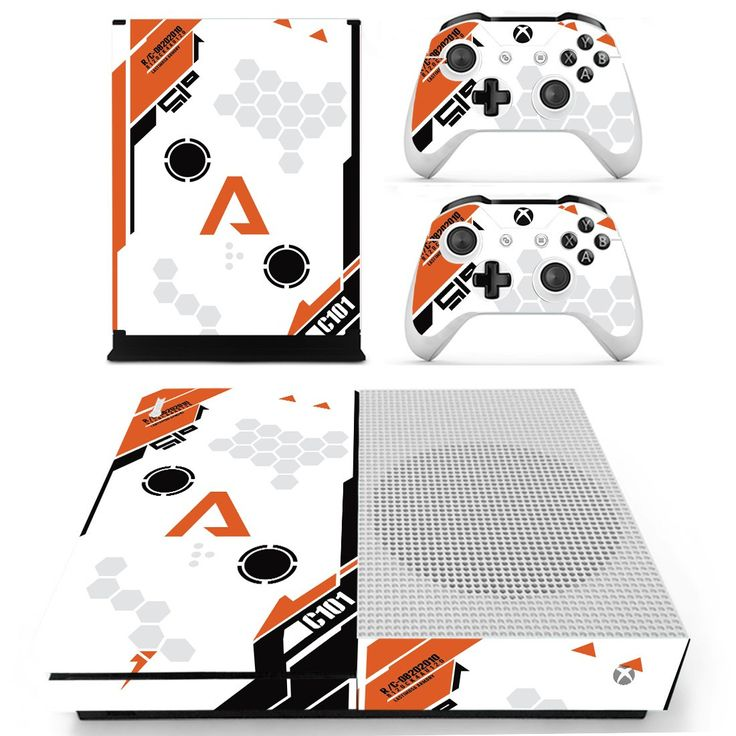 asiimov icon design skin decal for Xbox one S console and 2 controllers
