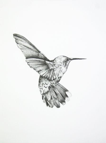 Lovely Flying Hummingbird Tattoo