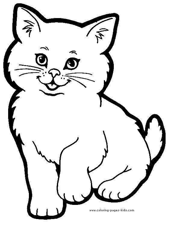 Cat Color Page Animal Coloring Pages Plate Sheet Printable