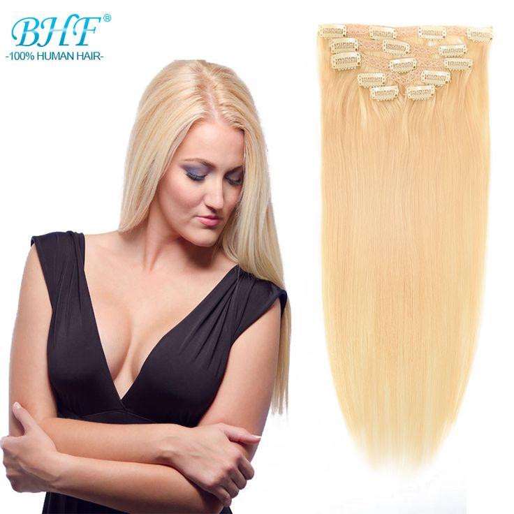 Бразильский Зажим Для Волос В Расширениях Блондинка Клип В Наращивание Волос Человека Выметание Натуральных Волос Клип Ins Реальных Человеческих Волос