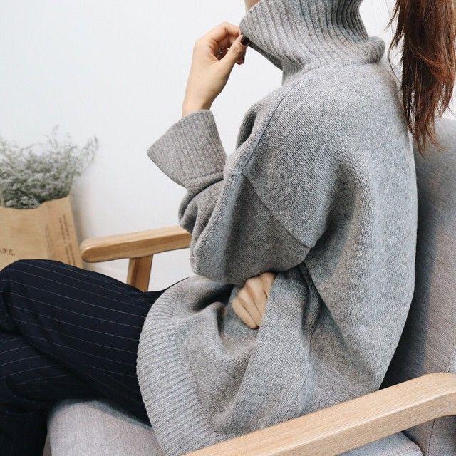 Grey turtle neck | winter style