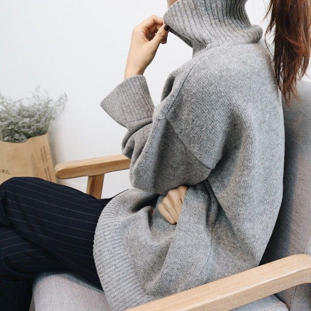 Grey turtle neck | winter style