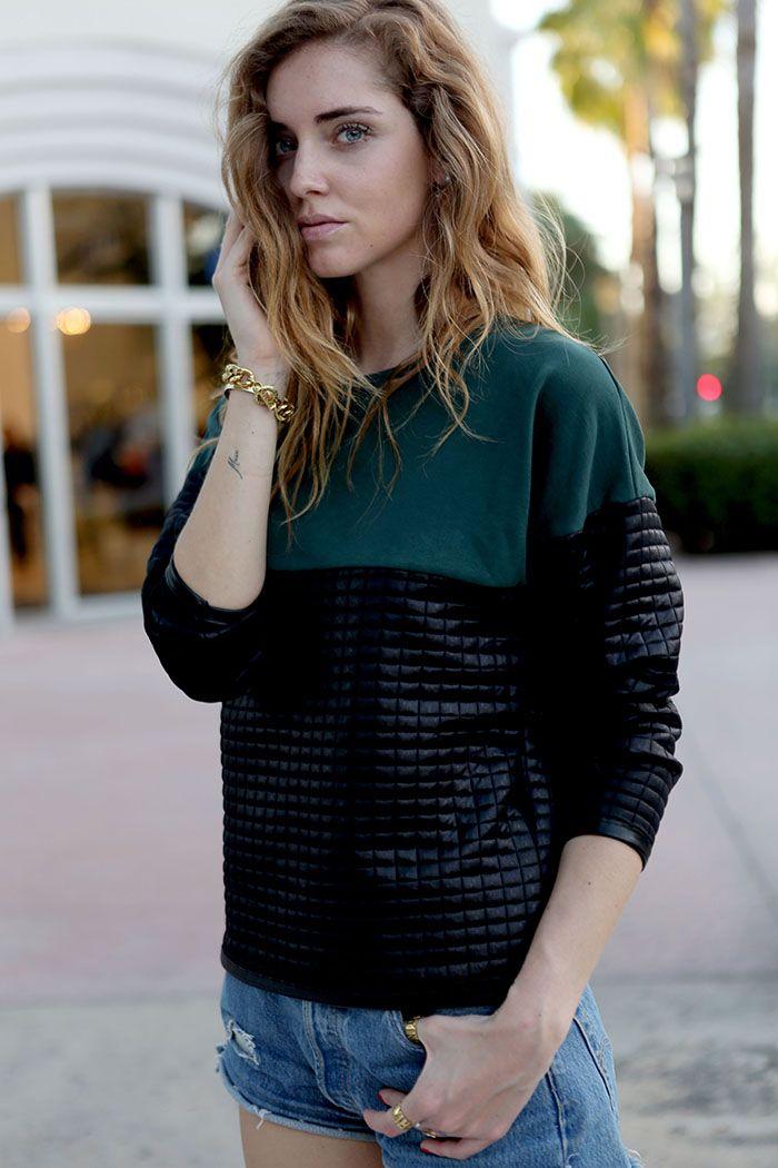 Chiara is wearing:Gaelle Bonheur sweater,Chiara Ferragni glitter slippers...