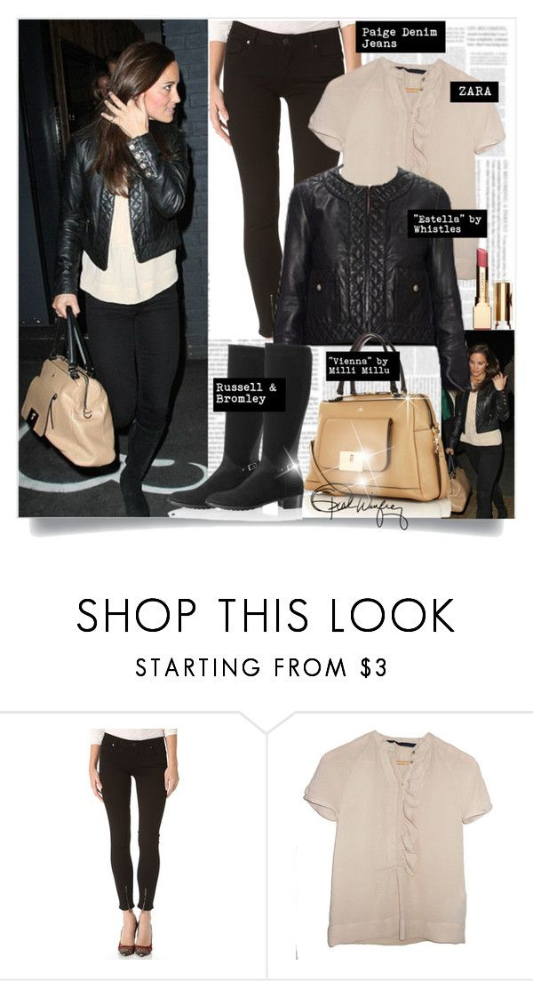 """""""Pippa Middleton y Nico Jackson en restaurante de Londres - Marzo 20, 2013 (10 fotos)"""" by presidente1 ❤ liked on Polyvore featuring Paige Denim, Pippa, Clarins and PippaMiddleton"""