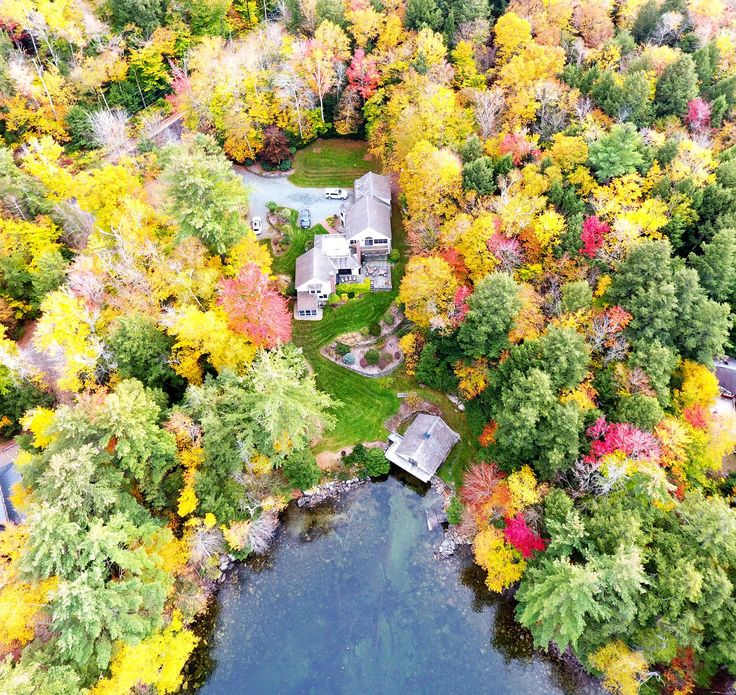 Fall leaf peeping on Lake Sunapee, New Hampshire | Architecture by Andreozzi Architects